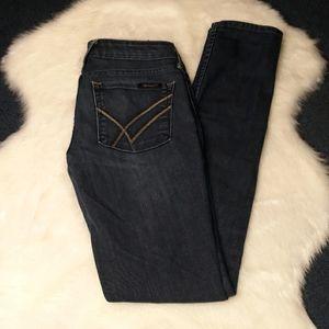 William Rast dark blue womens skinny jeans